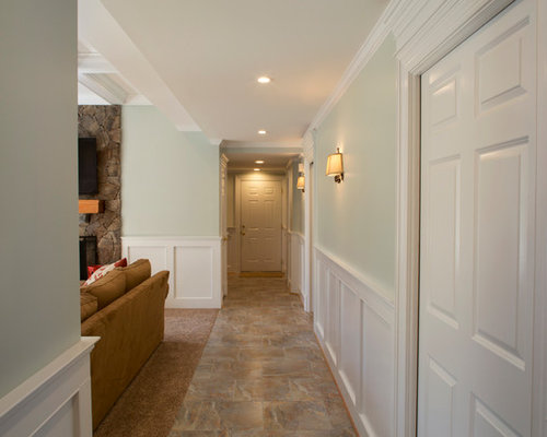 Finished Basement with Custom Finishes, Large Wet Bar