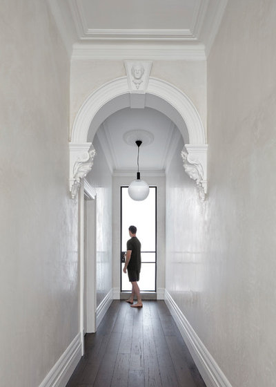 Contemporary Hallway & Landing by MMAD Architecture