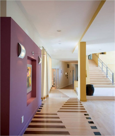 Contemporary Hall by Amber Flooring