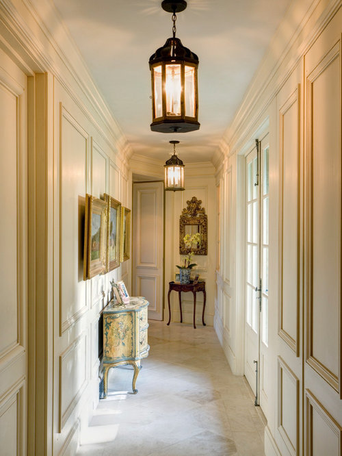 Example Of A Classic Marble Floor And Beige Floor Hallway Design In San  Francisco With Beige