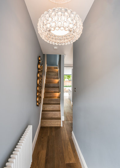 Modern Hallway & Landing by Grand Design London