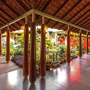Idee per un ingresso o corridoio tropicale
