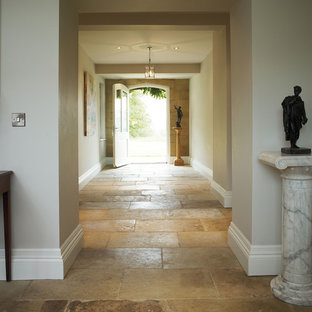 Genuine Antique Blonde Barr Limestone Floor