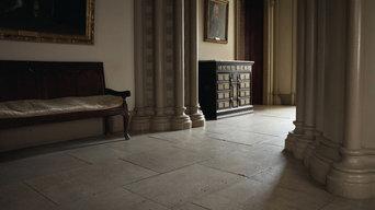 Genuine Antique English Reclaimed Coursed Floor