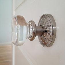 Mediterranean Hall glass Door knob by Emtek