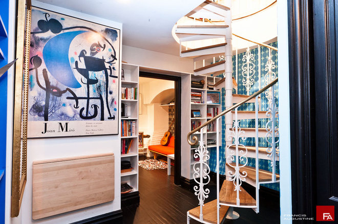Eclectic Hall by Marie Burgos Design