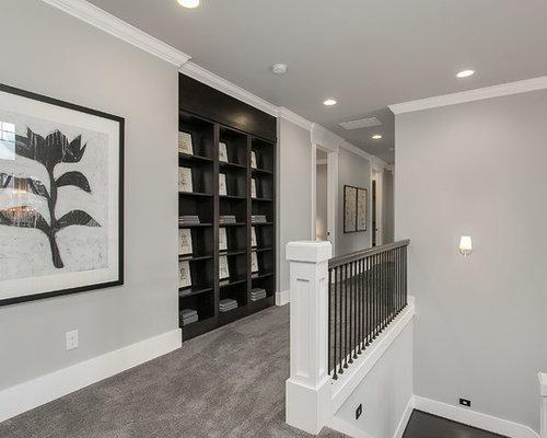 gro er flur mit grauen w nden ideen f r die flurgestaltung. Black Bedroom Furniture Sets. Home Design Ideas
