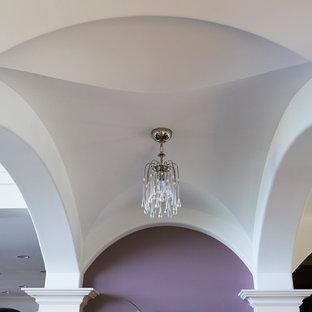 Idéer för en stor hall, med lila väggar