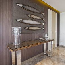 Contemporary Hall by Neslihan Pekcan/Pebbledesign