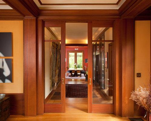 Inspiration For A Craftsman Medium Tone Wood Floor Hallway Remodel In San  Francisco