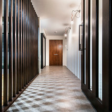 Contemporary Hall by Residential Attitudes