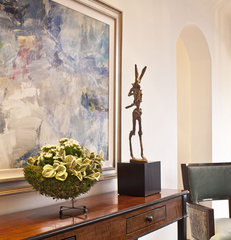 mediterranean hall by Dayna Katlin Interiors