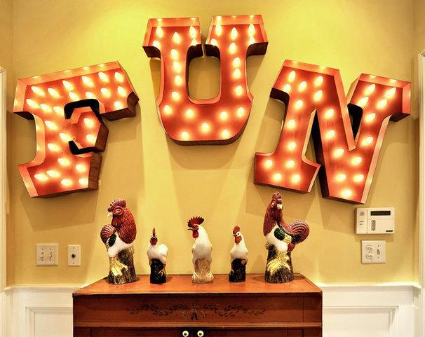 Eclectic Hall by Echelon Custom Homes