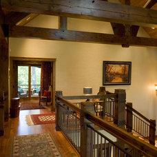 Rustic Hall by Gabberts Design Studio