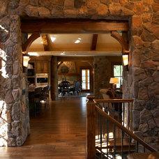 Traditional Hall by Gabberts Design Studio