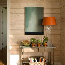 Beach Style Hall by Tracery Interiors