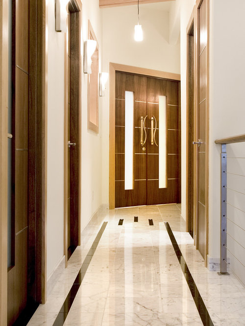 Door Design Ideas front door designs for houses into beautiful home appearance front door design ideas Contemporary Hallway Idea In Seattle With White Walls