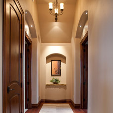 Contemporary Hall by Aneka Interiors Inc.