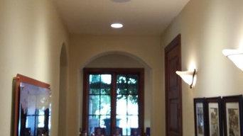 Hallway art lighting