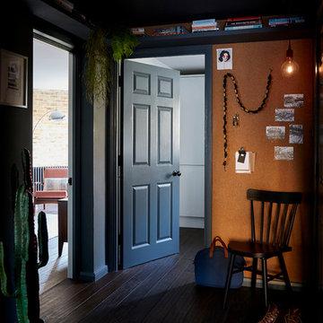 HALLWAY | Bamboo Flooring & Cork Wall