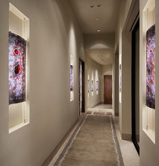contemporary hall by Angelica Henry Design