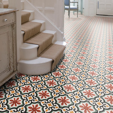 Hallway in Victorian Home with Encaustic Tiles