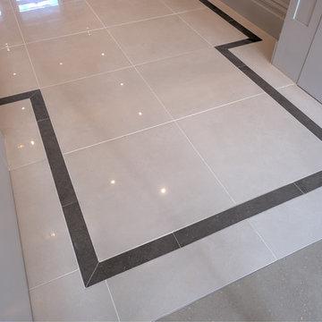 Hallway - Micron White Polished & Conproj Dark Grey Border Insert