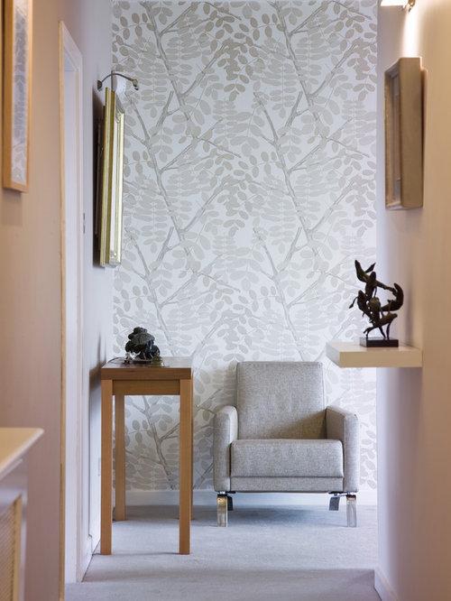 Contemporary dulux paint cane hallway design ideas - Idee deco papier peint salle a manger ...