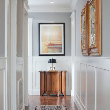 Hallway with Custom Millwork