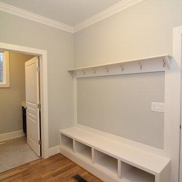 Hallway with Drop Zone Storage Bench