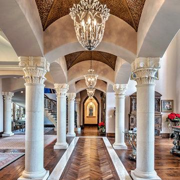 Hallway with Limestone Columns