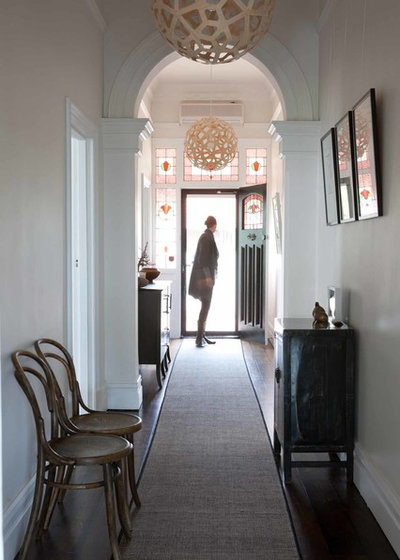 Traditional Hallway & Landing by One Small Room - OSR Interiors & Building Design