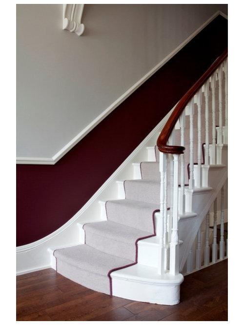 traditional hallway idea in sussex - Farrow And Ball Brinjal