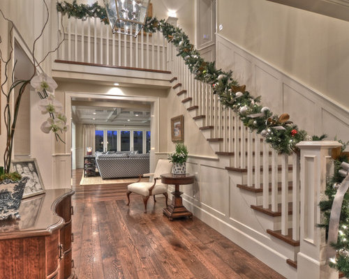 Two story foyer home design ideas pictures remodel and decor for Christmas interior house decorations