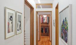 Harlem Residence Hallway with Office Door Open
