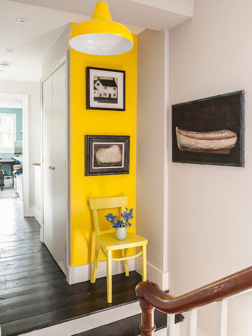 75 Trendy Hallway with Yellow Walls Design Ideas - Pictures of ...