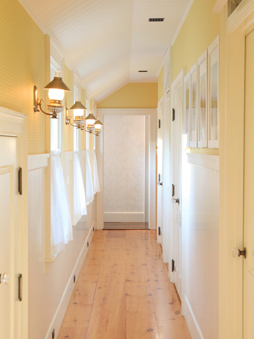 narrow hallway lighting ideas. Mid-sized Elegant Light Wood Floor And Beige Hallway Photo In Boston With Yellow Narrow Lighting Ideas H
