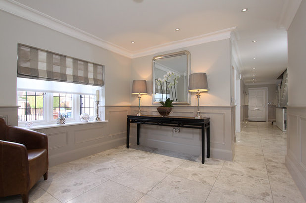 Contemporary Hallway & Landing by The Wall Panelling Company