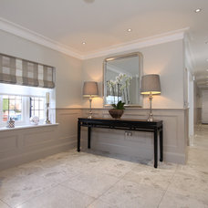 contemporary hall by The Wall Panelling Company