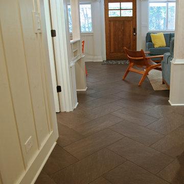 herringbone large tiles