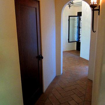 Herringbone Pattern Floor in Spanish Home