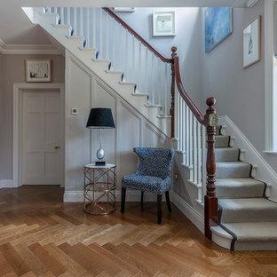 Herringbone Wood Floors in Beautiful Hallway