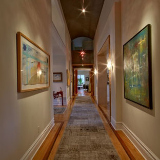 Inspiration for a transitional hallway remodel in Indianapolis