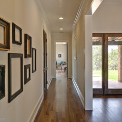 eclectic hall by Redbud Custom Homes