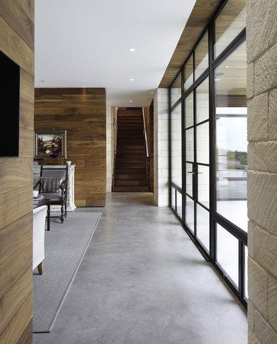 Contemporary Corridor by Cornerstone Architects
