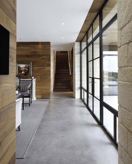 contemporary hall by Cornerstone Architects