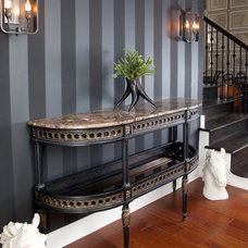 Traditional Hall by Lisa Wolfe Design, Ltd