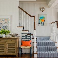 Beach Style Hall by Katie Rosenfeld Design