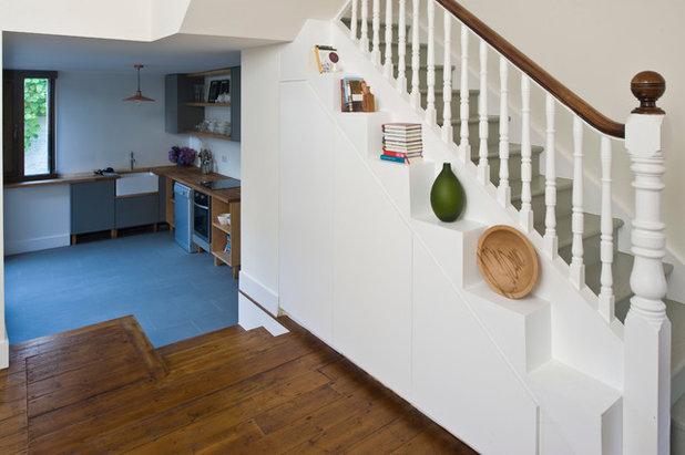 Contemporary Hallway & Landing by Jane Higgins Home Design