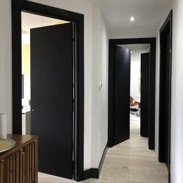 Indigo Doors - Modern family house in Weston with Kosmo Flat Diablo Black